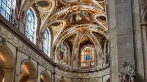 Jardins des Tuileries - Intérieur Eglise St Roch