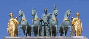 Jardins des Tuileries - Quadrige de l'Arc de triomphe du Carrousel