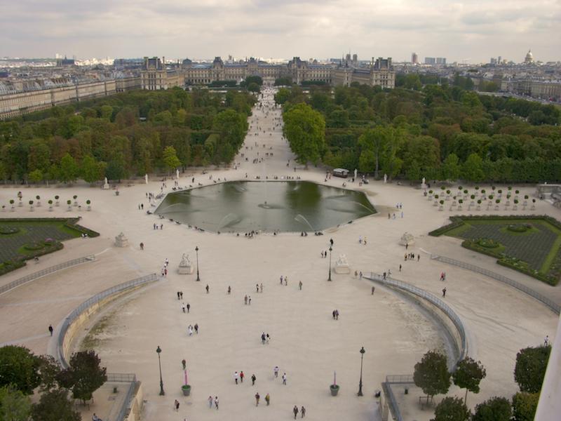 Jardins des Tuileries - Vue panoramique
