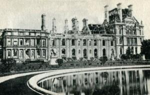 Jardins des Tuileries - Tuileries après incendie 1871