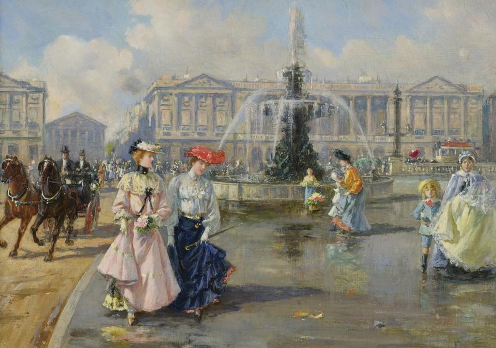Palais Bourbon - Place de la Concorde 1872