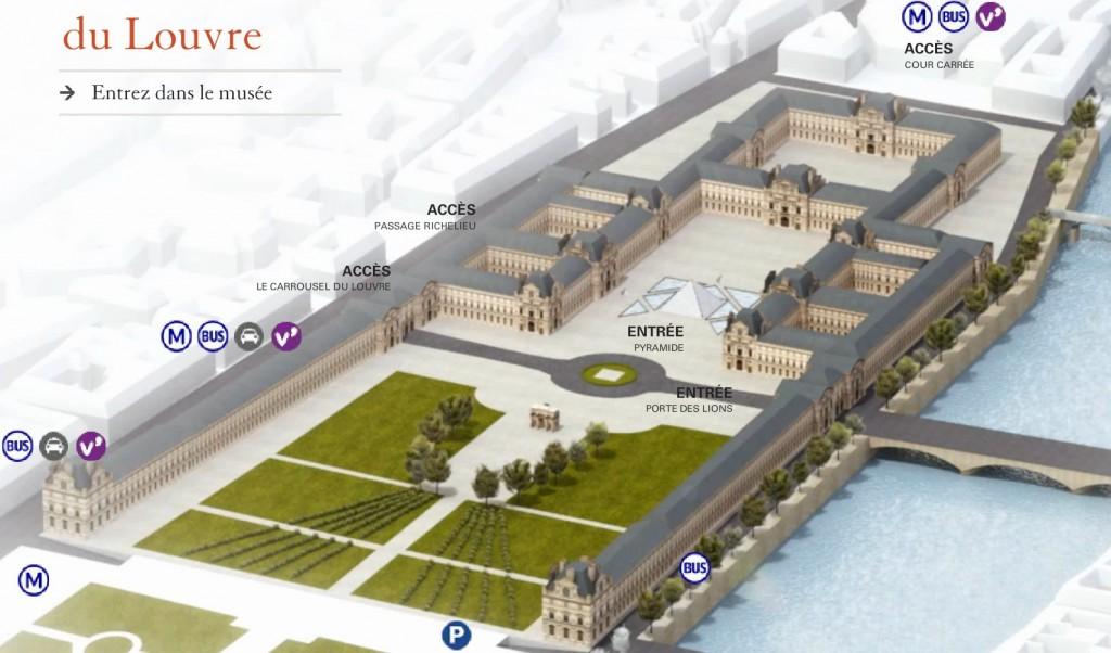Carrousel du Louvre - Louvre ensemble extérieur