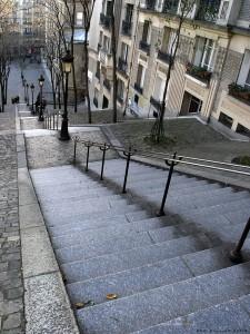 Pigalle - Escaliers de la Butte