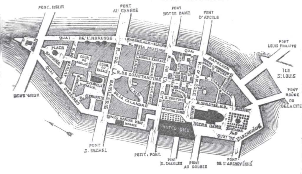 Sainte Chapelle - Plan_Cité_1862_Ferdinand_Heuzey