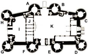 Place de la Bastille - Bastille_plan de masse_labelled