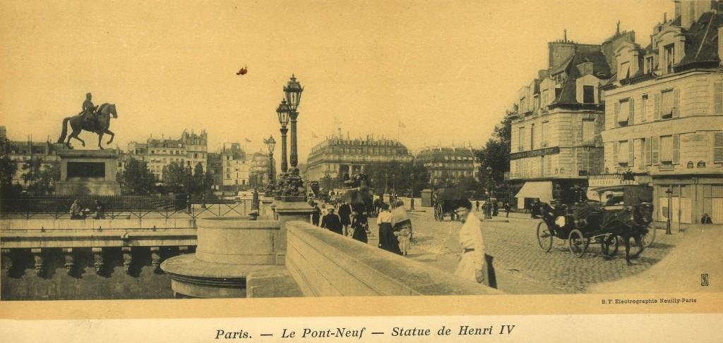 Henri IV de France - Pont Neuf en 1900