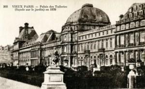 Jardins des Tuileries - Tuileries avant 1871